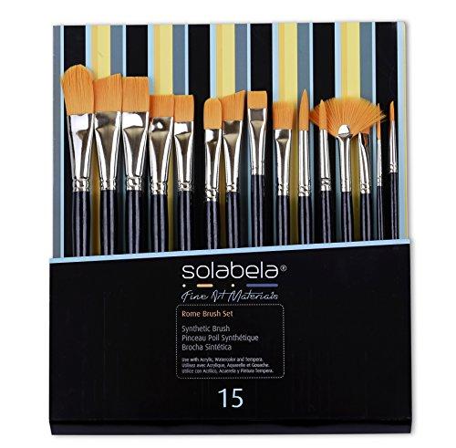 Solabela®アーティストブラシ。「ローマ」ブラシ15本セット