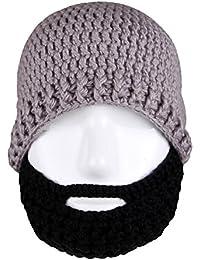 Unisex Knit Stubble Beard Beanie