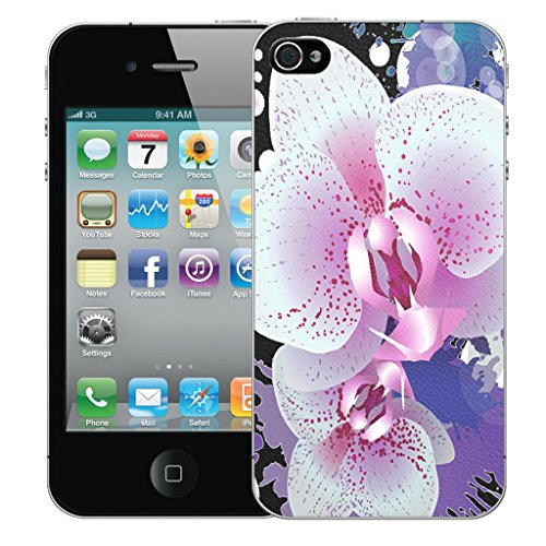 Mobile Case Mate iPhone 4s Silicone Coque couverture case cover Pare-chocs + STYLET - Elegant Petal pattern (SILICON)