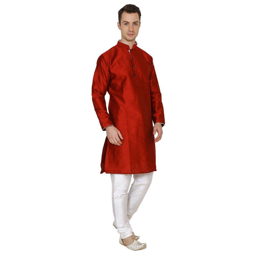 Royal Kurta Mens Self Designer Kurta /& Churidhar