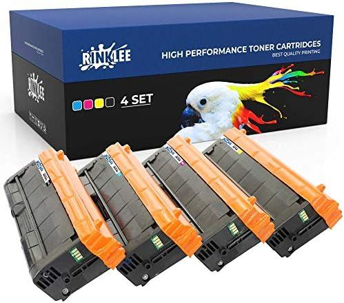 RINKLEE SP C250E SPC250 Tonerkartusche kompatibel für Ricoh SPC250DN SPC250SF SP C250DN C250SF SP C240DN   hohe Reichweite 2000/1600 Seiten   Schwarz/Cyan/Magenta/Gelb, 4er-Pack