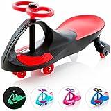 EIGHTBIT Swivel Car Rolling Ride On Car - Indoor / Outdoor - Black Widow Black/Red