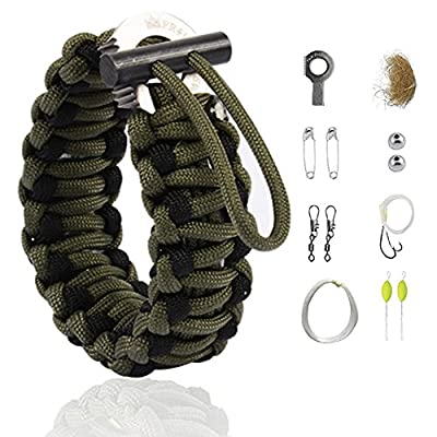 The Friendly Swede Multi-purpose Paracord Bracelet Survival Kit for Preppers