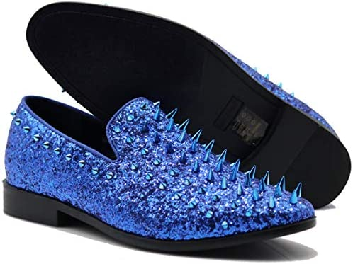 Royal blue mens loafers _image2