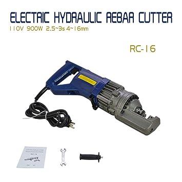 "RC-16 5//8/"" Capacity Hydraulic Rebar Cutter Grade 60 Rebar Cutting Electric"