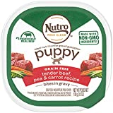 NUTRO PUPPY High Protein Grain Free Natural Wet Dog Food Bites in Gravy Tender Beef, Pea & Carrot Recipe, (24) 3.5 oz. Trays Larger Image