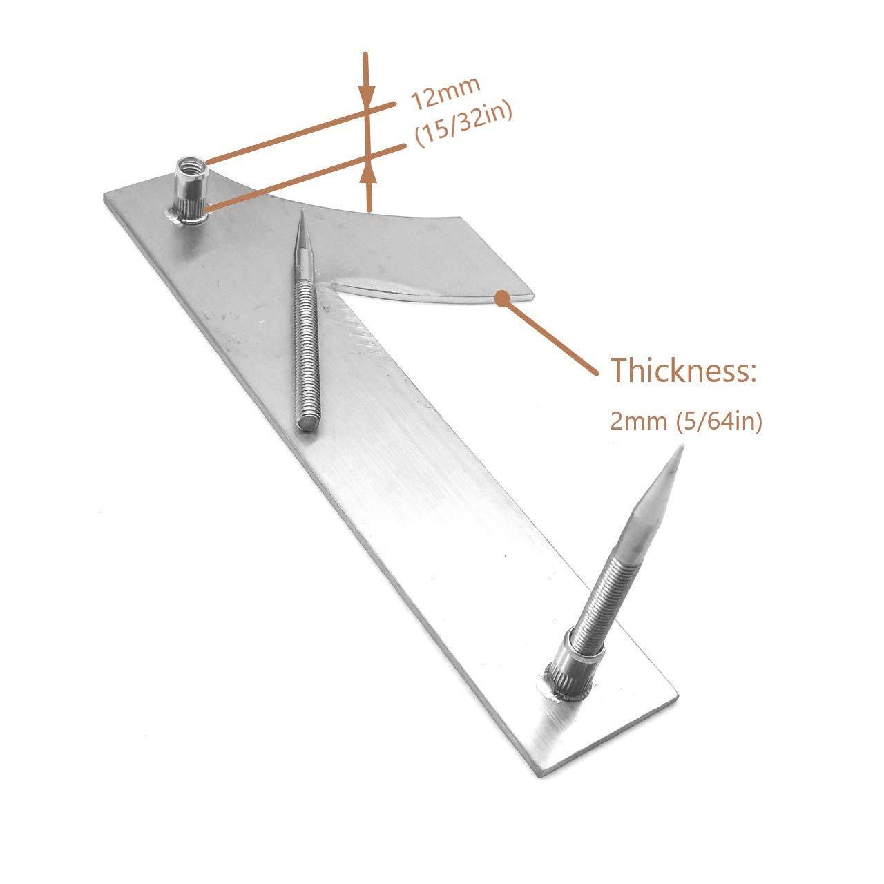 Cepillado n/úmero de casa 3 Tres-15.3 cm 6 in-made de s/ólido Acero inoxidable 304 flotante apariencia f/ácil de instalar