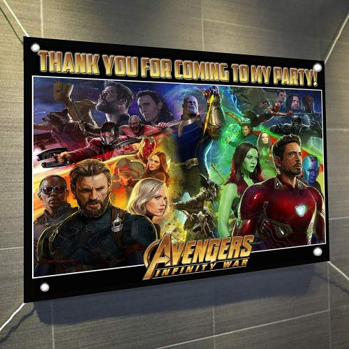 AVENGERS Infinity War Movie Banner Large Vinyl Indoor or Outdoor Banner Sign Poster Backdrop, party favor decoration, 30