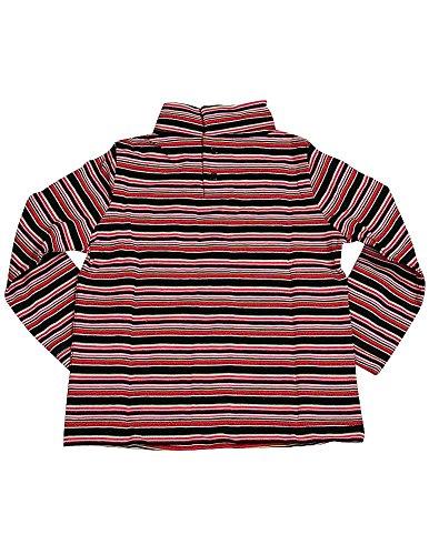 Private Label - Little Girls Long Sleeved Turtleneck Top, Red, Black, Pink 6334-3T