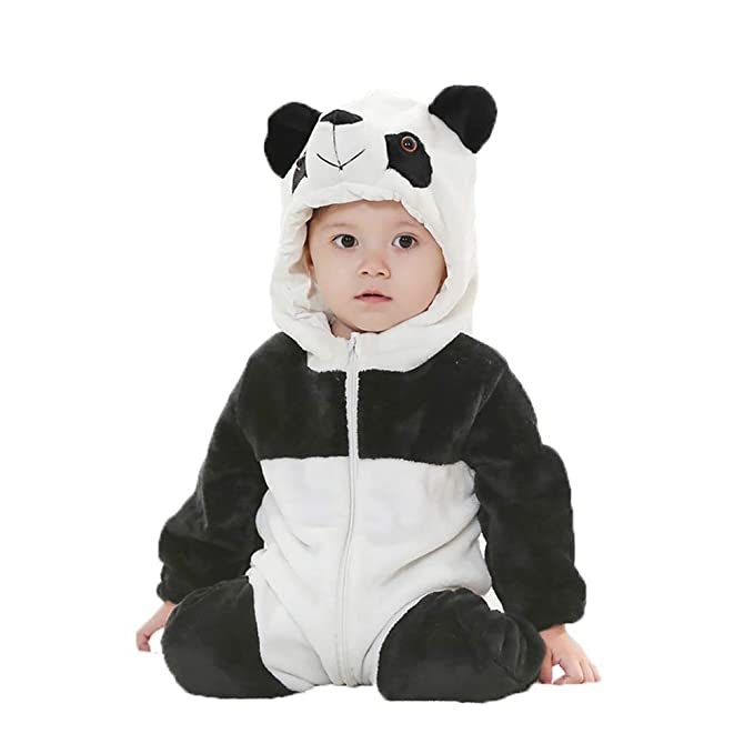 9f77a3b27be8 Amooy DiZi Unisex Hooded Baby Romper Animal Zipper Cosplay Costume ...