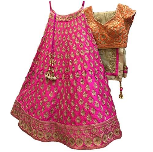 REKHA Ethnic Lehenga Choli Indian Women Designer Partywear Ethnic Traditional Lehenga Choli Wedding Wear Lehenga 06 Pink