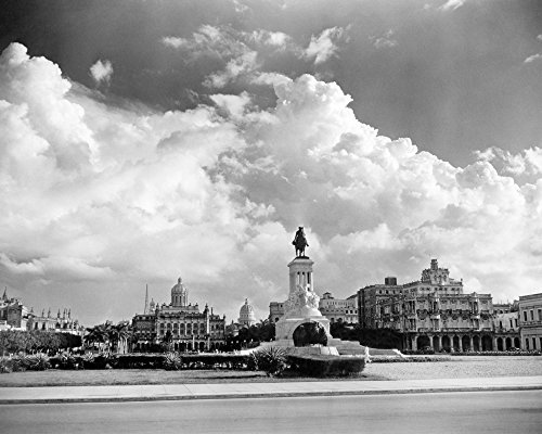 1930s-1940s Skyline Of Monument To Maxima Gomez In Center Dramatic Sky Clouds Havana Cuba Print By Vintage Collection