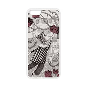 For iPhone 6 Case - New DIY Fairy Wonderland,Escape Into The Fancy world for iPhone 6 4.7 - PC-TPU Back Cover Case for iPhone 6 with 4.7 inch Screen