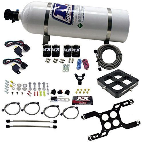 - Nitrous Express 66047-15 Dual Stage Billet Crossbar Plate System w/15 lb. Bottle 50-800 HP 4500 Flange Dual Stage Billet Crossbar Plate System