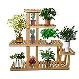 Yardeen Wooden Plant Display Flower Stand 5-Tier Storage Rack Shelving 10 Pot Holder for Garden Patio Corner Indoor&Outdoor Décor
