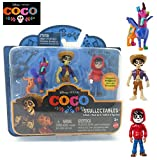 NEW! Disney Pixar COCO Movie - Skullectables 3-pack Dante, Hector, Miguel - Unique, Highly-Detailed Mini-Figure Inspired by the Movie. A Great Gift for Coco Fans!