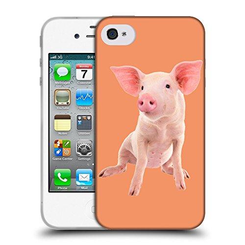 GoGoMobile Coque de Protection TPU Silicone Case pour // Q05580607 Porc bébé Atomic Tangerine // Apple iPhone 4 4S 4G