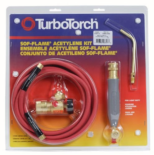 TurboTorch 0386-0090 WSF-4 Torch Kit Sof-Flame, for B tank, Air Acetylene Victor