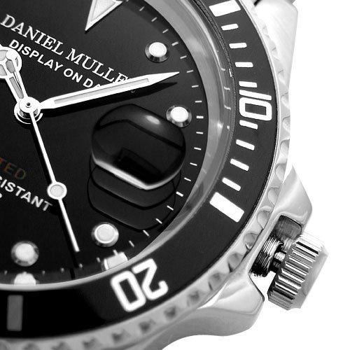 Amazon.com: DANIEL MULLER DANIEL MULLER watch divers watch blackDM-2018BK: Watches