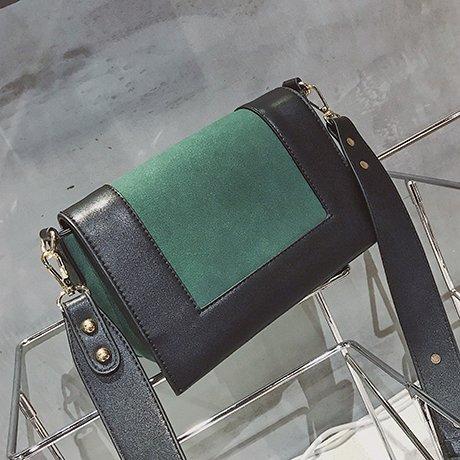 OME&QIUMEI Una Pequeña Bolsa Con Una Amplia Bolsa De Hombro Y Una Pequeña Bolsa Con Una Sola Bolsa De Hombro Rojo,De Color Azul. Green and black