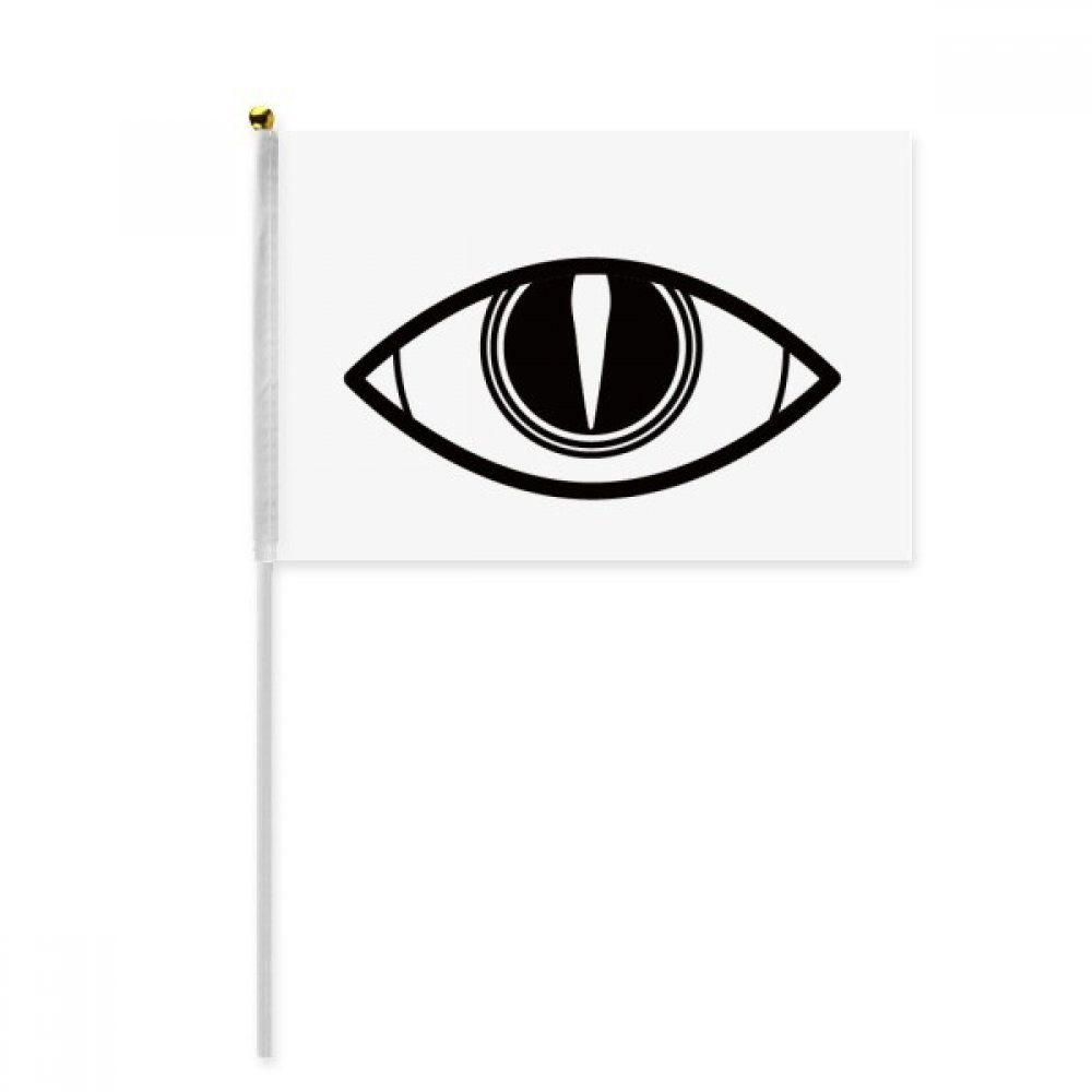 Black Decoration Vector Pattern Eye Hand Waving Flag 8x5 inch Polyester Sport Event Procession Parade 4pcs