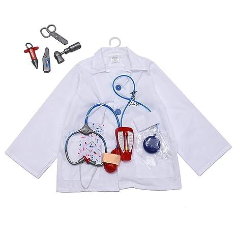 Amosfun - Disfraz de médico para Halloween con Kit médico para ...
