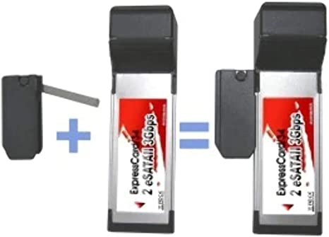 LyCOM EK111 Tarjeta y Adaptador de Interfaz - Accesorio (ExpressCard, Negro, Plata)