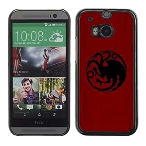 EJOY---Cubierta de la caja de protección la piel dura para el / HTC One M8 / --Dragón Sigil Targaryen