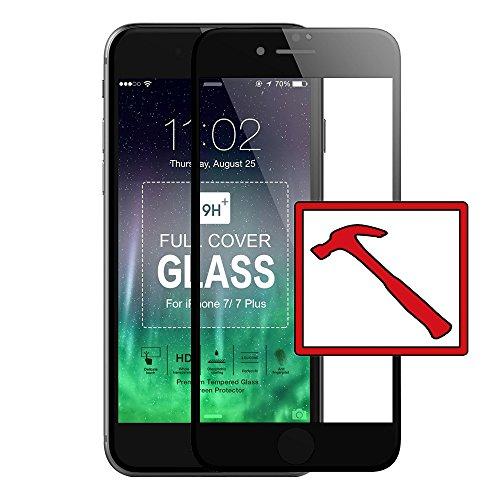 Slabo PREMIUM Pellicola Protettiva in Vetro Temperato iPhone 7 Plus / iPhone 8 Plus FULL COVER Pellicola Protettiva Schermo Tempered Glass CRYSTAL CLEAR - Graffi fino a 9H - Cornice Nero