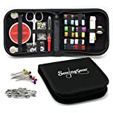 Compact Sewing Kit for Home, Travel, Camping & Emergency Gift for Kids, Girls, Beginners & Adults | Best Premium Sew Supplies Set | Expansive Case with 100 Extra Pins & Safety Pins