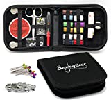 Compact Sewing Kit for Home, Travel, Camping & Emergency. Best Gift for Kids, Girls, Beginners & Adults. Quality Premium Sew Supplies Set. Expansive Case with 100 Extra Pins & Safety Pins