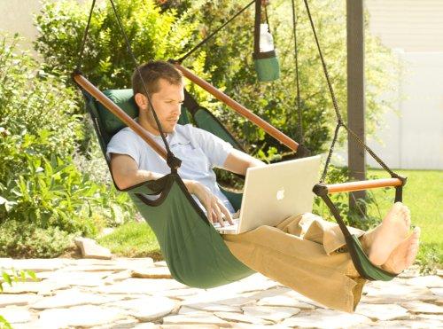 Amazon.com : Hammaka Hanging Hammock Air Chair, Wooden Dowels, Burgundy :  Outdoor Hunting Chair : Garden U0026 Outdoor