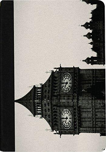 Rikki Knight Vintage Big Ben Clock Tower Faux Suede Noteb...