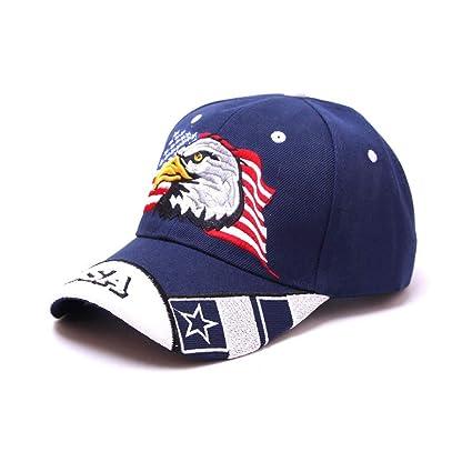 7b8259353417e Amazon.com   FACAIAFALO Patriotic American American Eagle American Flag  Baseball Cap Embroidery   Garden   Outdoor