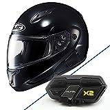 HJC Closeouts CL-MAX II Glossy Black Modular Helmet with ...