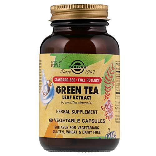 Solgar Standardized Full Potency Green Tea Leaf Extract Vegetable Capsules, 60 Count ()