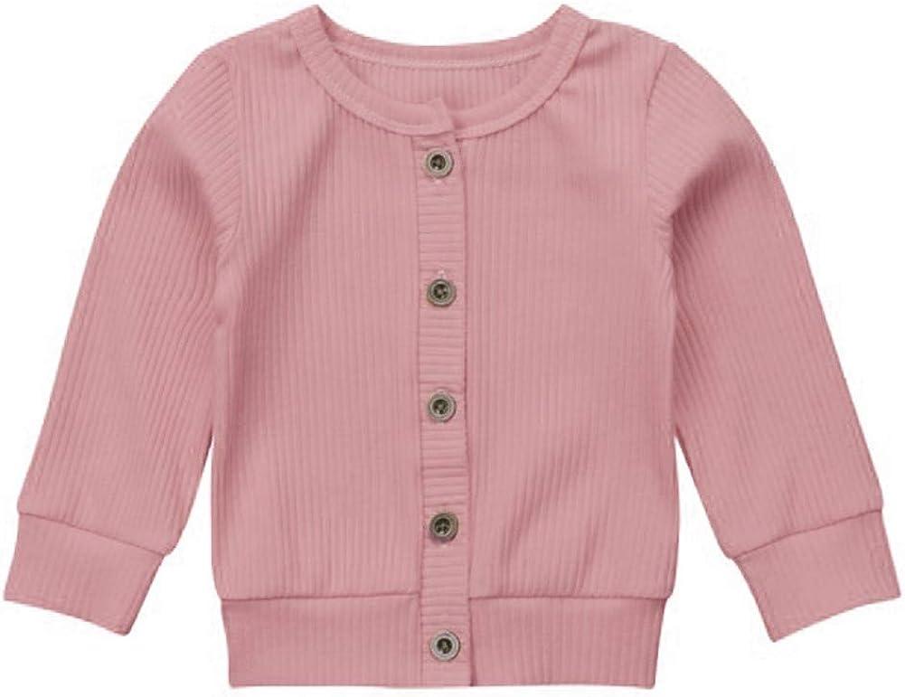 Hongyuangl Baumwoll Strickjacke f/ür Unisex Baby Junge kn/öpfen Pullover Alter 0-24 Monate
