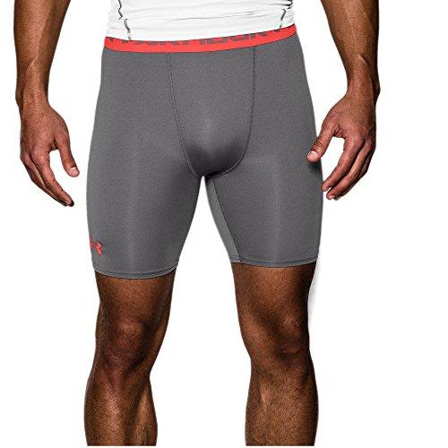 Under Armour Men's UA Heatgear Armour Compression Shorts, Graphite/After Burn, X-Large, 2-Pack