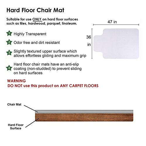 SHAREWIN Chair Mat for Hard Wood Floors - 36''x47'' Heavy Duty Floor Protector - Easy Clean  by SHAREWIN (Image #5)