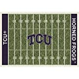 TCU Horned Frogs College Team Gridiron 10x13 Rug from Miliken
