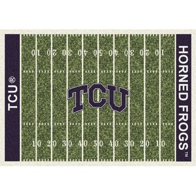 TCU Horned Frogs College Team Gridiron 10x13 Rug from Miliken by Miliken and Company