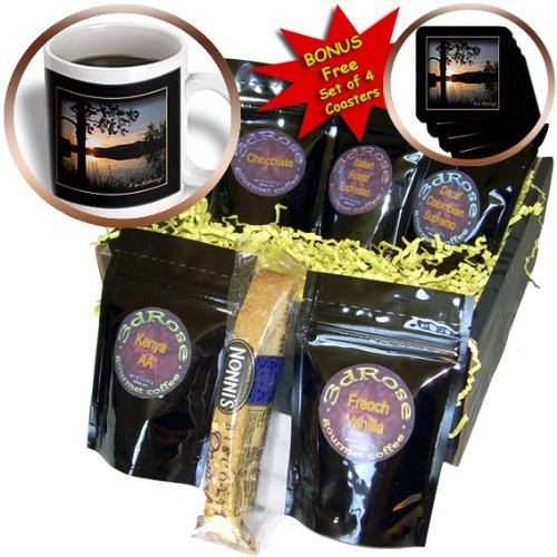 Beverly Turner Retirement Design and Photography – Im Retiring, Mountain Lake Sunset – Coffee Gift Baskets – Coffee Gift Basket (cgb_43421_1)