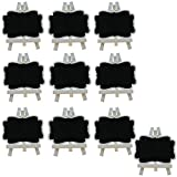 Wcaro 10pcs Mini Chalkboard Blackboard with White Wooden Easel,Suit for Mark ...