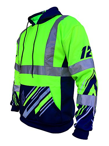 SafetyShirtz SS360 Seattle Twelve Safety Hoody ANSI Class 3 L by SafetyShirtz