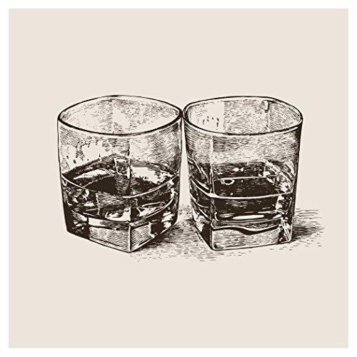 Creative Converting 24 Count Bourbon Trail Rocks Premium Patterned Beverage Napkins, Multicolor
