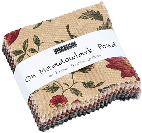 On Meadowlark Pond Mini Charm Pack by Kansas Troubles Quilters; 42-2.5