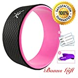 Risefit Dharma Yoga Prop Wheel for Yoga Poses, Pink