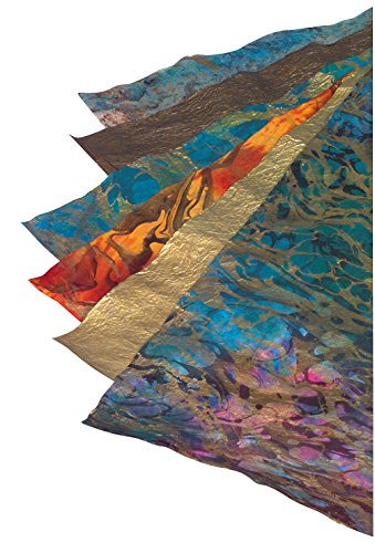 School Specialty 405618 Thai Marble and Metallic Paper, Assorted Sizes/Colors (Pack of (Thai Handmade Paper)