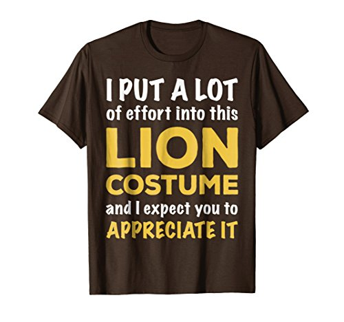 Lazy Halloween Costume T Shirt for Quick Easy Lion Theme -
