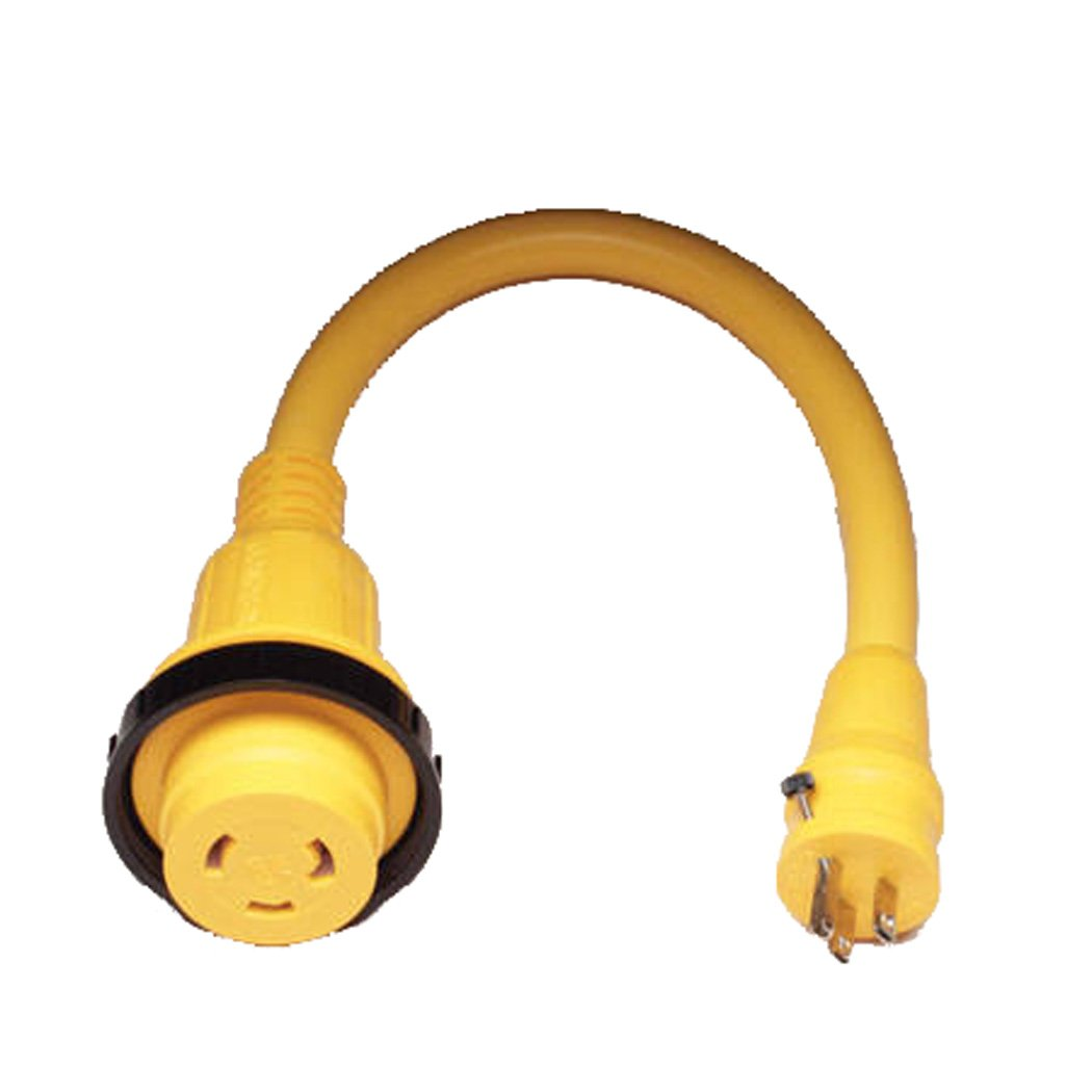 Marinco Marine Electrical Shore Power Pigtail Adapter, Yellow